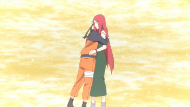 Il sacrificio di Kushina e Minato si colora dell'amore verso Naruto e, contemporanemente, della nostalgia di non poter vivere quell'amore.